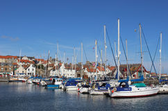 Yachts and other boats in Anstruther Harbour, Fife Royalty Free Stock Images