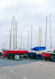 Yachts parked. Royalty Free Stock Images