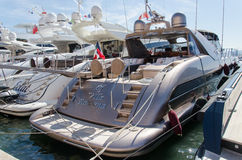 Yachts parked at Saint Tropez royalty free stock photography