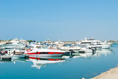 Yachts parking Stock Photography