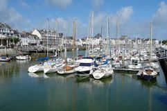 The yachts parking in Bretagne. Royalty Free Stock Images