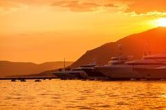 Yachts parking in marina. Stock Photography
