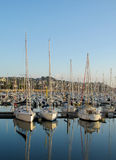 Yachts in Perros Guirec bay Royalty Free Stock Photography