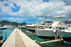 Yachts in Philipsburg marina, Saint Maarten Stock Image