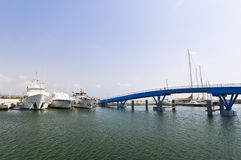 Yachts at the pier. Nobody Royalty Free Stock Photo