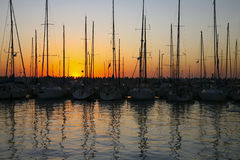 Yachts at pier Royalty Free Stock Photography