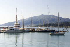 Yachts at the pier Stock Photography