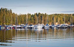 Yachts and pleasure boats Stock Photography