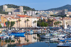 Yachts and pleasure boats in Ajaccio port Royalty Free Stock Image