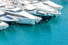 Yachts in port Royalty Free Stock Photography