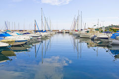 Yachts in a port Royalty Free Stock Photos