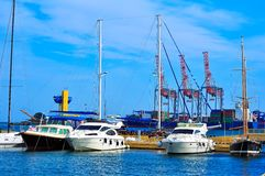 Yachts in port Royalty Free Stock Image