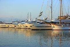 Yachts in port Stock Images