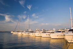 Yachts in port Stock Photo