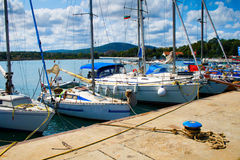 Yachts in port Stock Photography