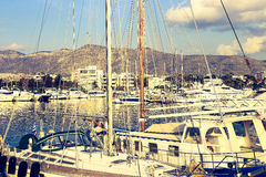 Yachts port in Athens, Greece Royalty Free Stock Photography