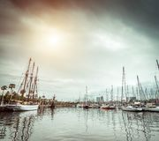 Yachts in the port Royalty Free Stock Photos