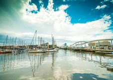 Yachts in the port Stock Photography