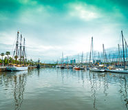 Yachts in the port Royalty Free Stock Photography