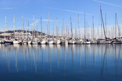Yachts in port of Cannes Stock Photo