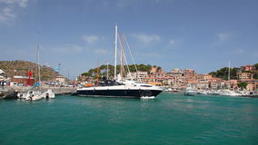 Yachts in Port de Soller, Mallorca Island, Spain stock video
