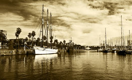 Yachts in Port Forum in Barcelona, Spain. Stock Photography