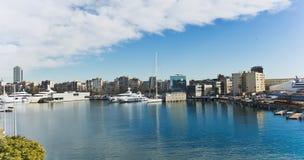 Yachts in Port Forum in Barcelona, Spain. Stock Image