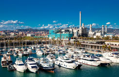 Yachts in Port Forum. Barcelona, Spain Stock Images