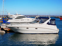 Yachts in the port Royalty Free Stock Photo