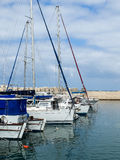 Yachts in Port of Old Jaffo Stock Photos