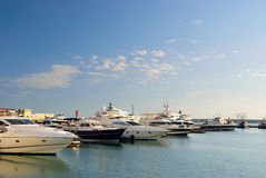 Yachts in port of Sochi. Russia stock images