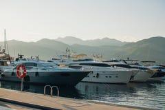 Yachts port, Tivat, Monténégro images libres de droits