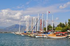 Yachts in port. Turkey. Stock Photo