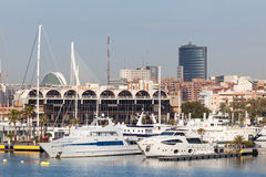 Yachts in the port of Valencia, Spain Stock Photo