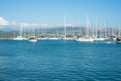 Yachts port Royalty Free Stock Photography