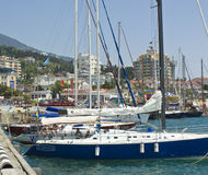Yachts in port, Yalta Royalty Free Stock Photography
