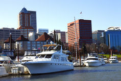 Yachts & Portland OR., skyline. Stock Images