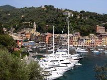 Yachts in Portofino Royalty Free Stock Images