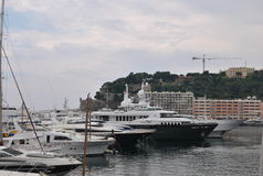Yachts on the quay in the port of Monaco Stock Image