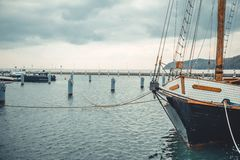 Yachts on the quay in Sopot. Poland Royalty Free Stock Images