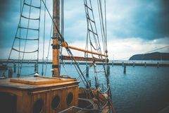 Yachts on the quay in Sopot Stock Photography