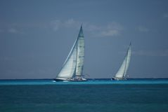 Yachts in a race Royalty Free Stock Images