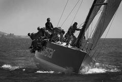 Yachts race at Malaga, Spain stock photos