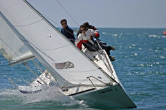 Yachts race at Malaga, Spain Royalty Free Stock Photography