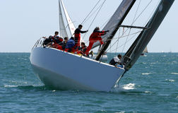 Yachts race at Malaga, Spain royalty free stock images
