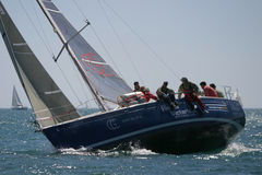Yachts race at Malaga, Spain Stock Image