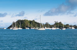 Yachts at Rakino  in Hauraki Gulf Royalty Free Stock Image