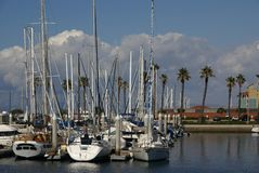 Yachts at Redondo beach Royalty Free Stock Photos