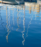 The yachts reflection in the water of Dahla tad-Dockyard bay, Ma Royalty Free Stock Photo