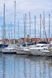 Yachts Reflexionen Stockfoto